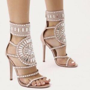 🔥Last One🔥Nude Jewel Heels